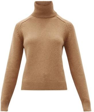 Saint Laurent Roll-neck Camel-hair Sweater - Camel