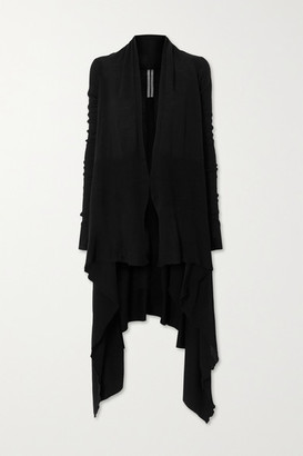 Rick Owens Draped Wool Cardigan - Black