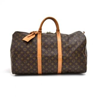 Louis Vuitton Keepall Brown Cloth Travel bags