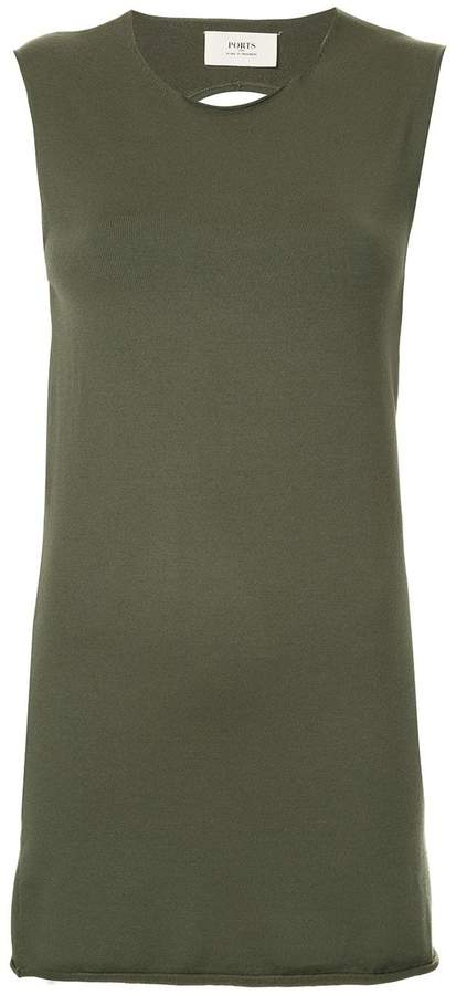 Ports 1961 knitted tank top