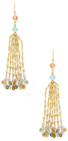Mallary Marks Dancing Confetti Pearl & Gemstone Tassel Earrings