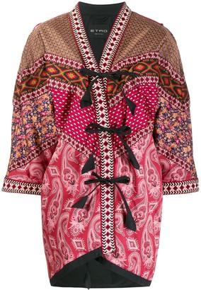 Etro Patchwork Kimono Jacket
