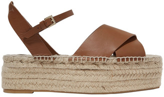 Mercedes Castillo Ximena Leather Platform Espadrille Sandals
