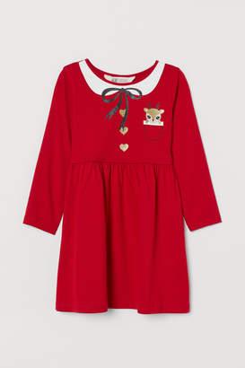 H&M Printed jersey dress