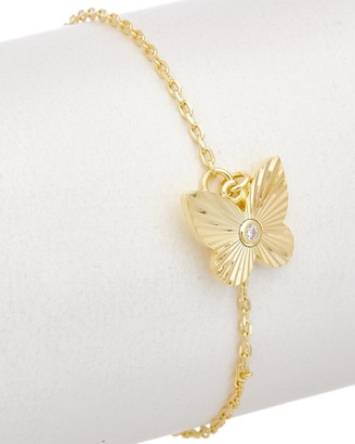 Alanna Bess Limited Collection 14K Over Silver Cz Butterfly Bracelet