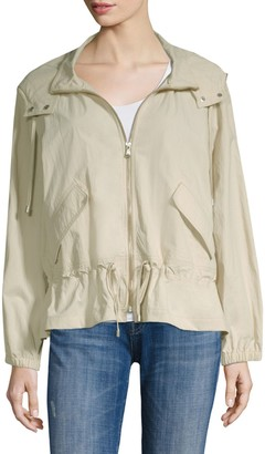 Donna Karan Hooded Long-Sleeve Jacket