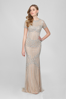 Terani Couture Stunning Crystal Accented High Neck Mermaid Gown 1721GL4459