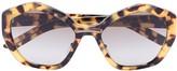 Prada hexagon lens tinted sunglasses