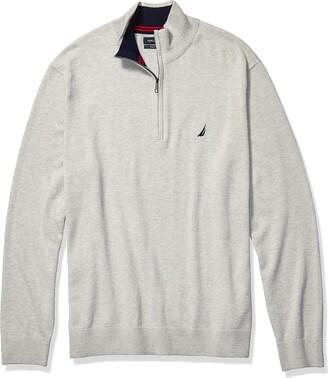 Nautica Men's Tall Navtech Quarter-Zip Sweater