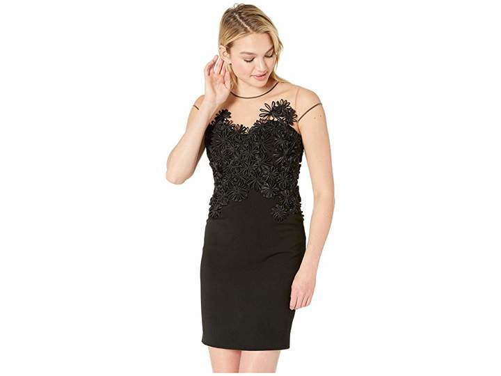 Floral applique dress shopstyle