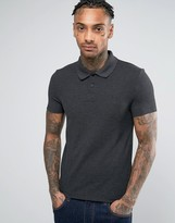 Asos Pique Muscle Polo Shirt With Embroidery