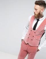 Noose & Monkey Super Skinny Suit Waistcoat In Velvet
