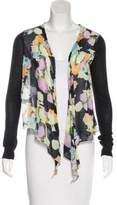 Elizabeth and James Open Front Printed Cardigan