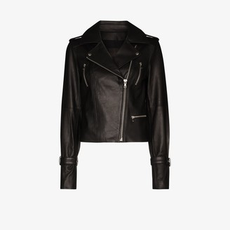 Paige Rayven leather biker jacket