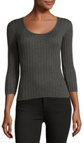Rag & Bone Tri Rib 3/4-Sleeve Top