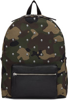 Alexander McQueen Green Nylon Camouflage and Skulls Backpack