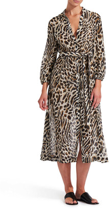 Jets Australia Prowess Animal-Print Maxi Dress