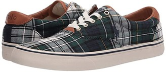 Polo Ralph Lauren Thorton (Green Cotton Tartan) Men's Shoes