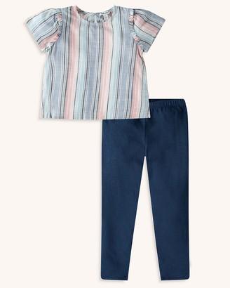Splendid Toddler Girl Woven Stripe Top Set