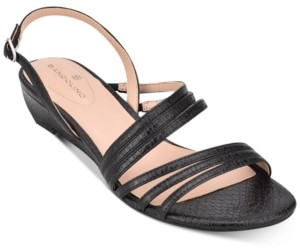 Bandolino Tilly Strappy Sliver Wedge Sandal Women's Shoes