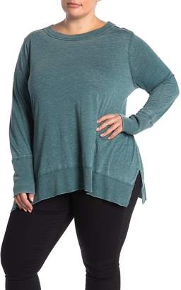 Susina Ribbed Trim Long Sleeve T-Shirt (Plus Size)
