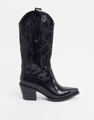Jeffrey Campbell Dagget western boot in black leather