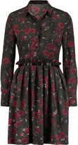 Mother of Pearl Hurley pleated floral-print silk-crepe shirt dress