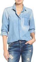 7 For All Mankind Torn Pocket Denim Boyfriend Shirt