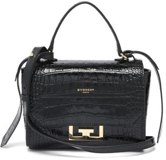 Givenchy Eden Mini Crocodile-effect Leather Bag - Black