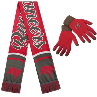 Women's Tampa Bay Buccaneers Gloves And Scarf Set