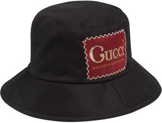 Gucci Logo Patch Bucket Hat