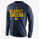 "Nike Jordan ""Re2pect"" (Michigan) Men's Long Sleeve Shirt"