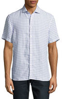 Black Brown 1826 Gingham Linen Short Sleeve Shirt