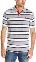 U.S. Polo Assn. Men's Balanced Stripe Pique Polo Shirt
