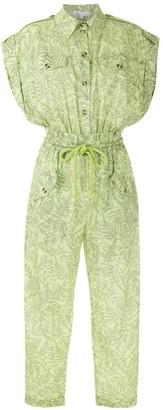 Nk Drawstring Printed Jumpsuit