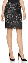 Elie Tahari Violette Sequin Stripe Lace Skirt