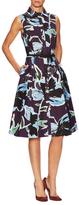 Carolina Herrera Cotton Pleated Dress