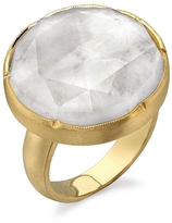 Irene Neuwirth Rose Cut Rainbow Moonstone Ring - Yellow Gold