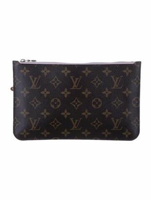 Louis Vuitton Monogram Neverfull Pouch Brown