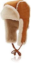 Barneys New York Women's Shearling Trapper Hat-TAN