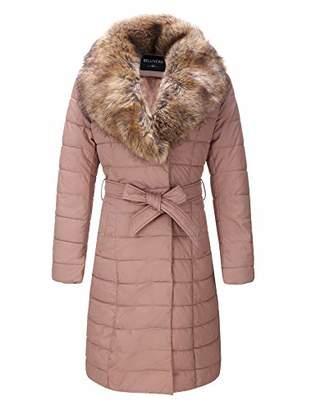 Bellivera Faux Leather Puffer Padding Long Jacket