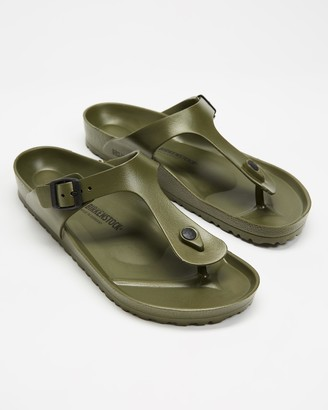 Birkenstock Green Flat Sandals - Gizeh EVA - Unisex - Size 41 at The Iconic