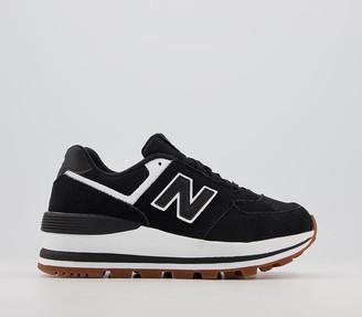 New Balance 574 Wedge Trainers Black White
