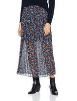Lost Ink Women's Midaxi Skirt in Pleat with Floral