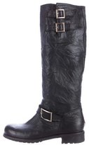 Jimmy Choo Distressed Leather Boots