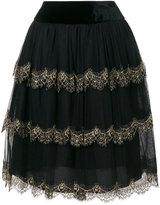 Alberta Ferretti layered tulle skirt - women - Silk/Polyamide - 38