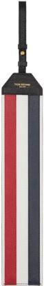 Thom Browne Black Pebble RWB Stripe Luggage Tag