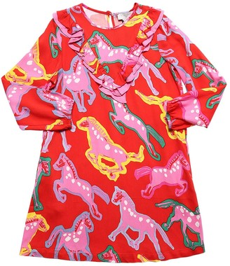 Stella Mccartney Kids Horse Print Viscose Dress