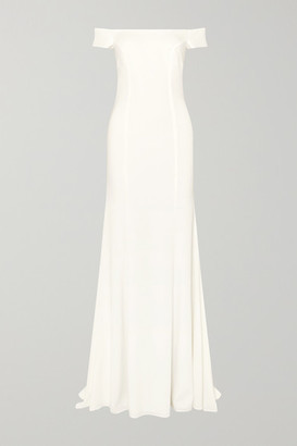 Rime Arodaky Louvre Off-the-shoulder Crepe Gown - White