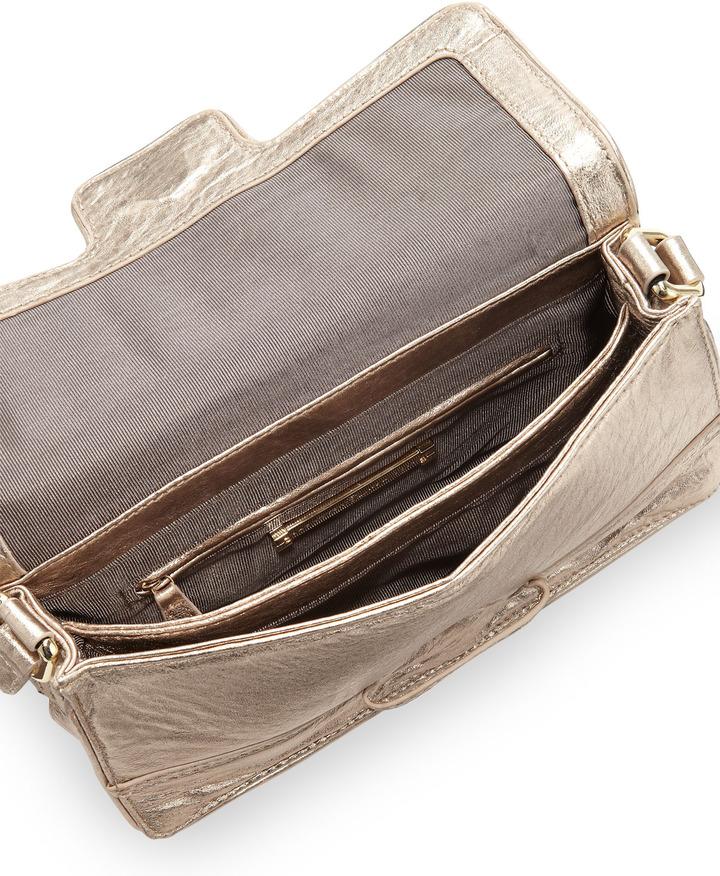 Z Spoke Zac Posen Americana East-West Flap Shoulder Bag, Gold